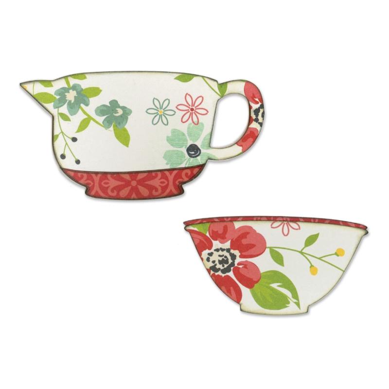 Sizzix Vintage Kitchen Mixing Bowls Bigz Die