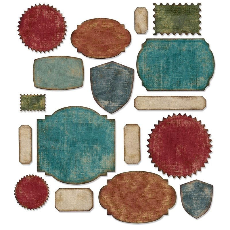 Sizzix Tim Holtz Alterations Collection Thinlits Die Labels