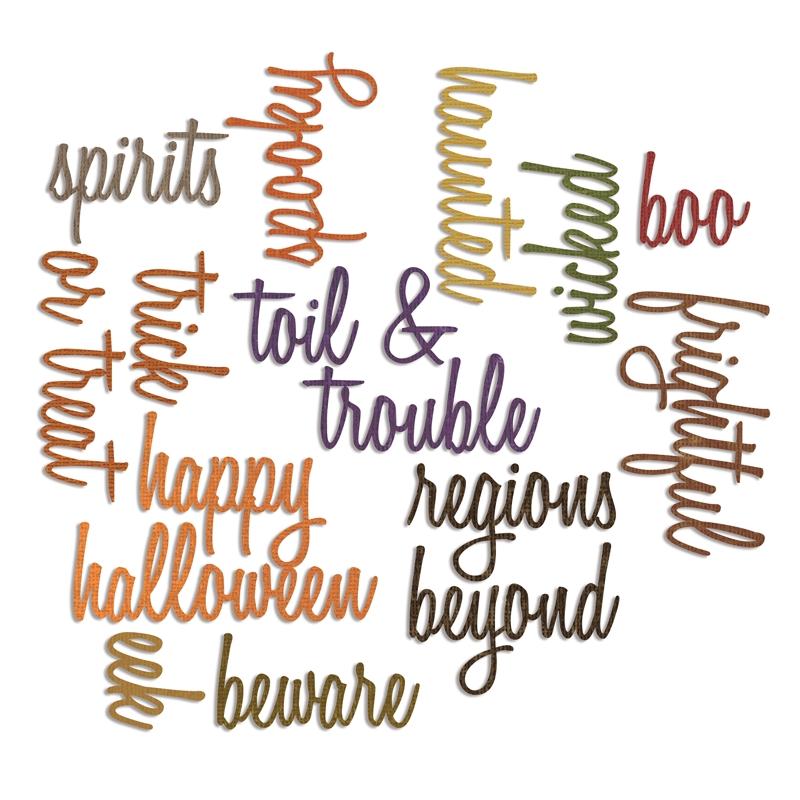 Sizzix Tim Holtz Alterations Script Halloween Words Thinlits Die