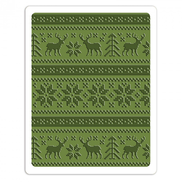 Sizzix Tim Holtz Alterations Texture Fades Holiday Knit Embossing Folder