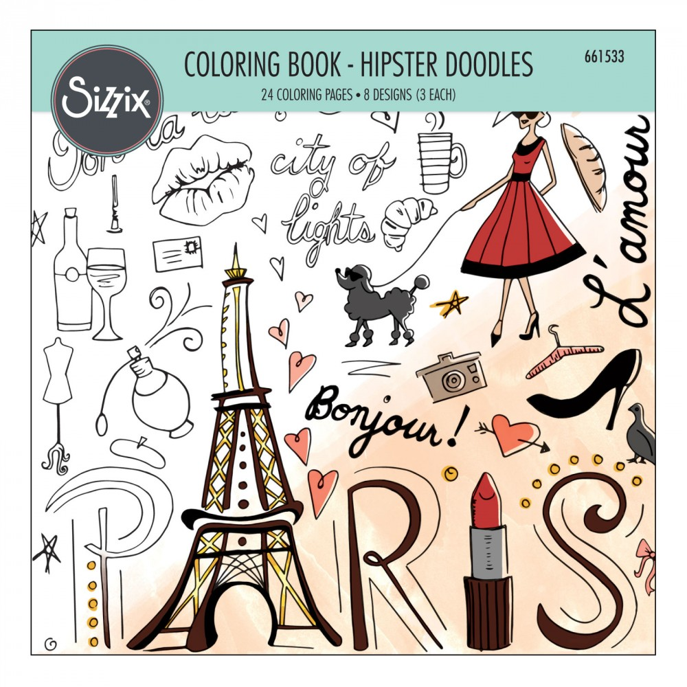 sizzix coloring book hipster doodles - Hipster Coloring Book