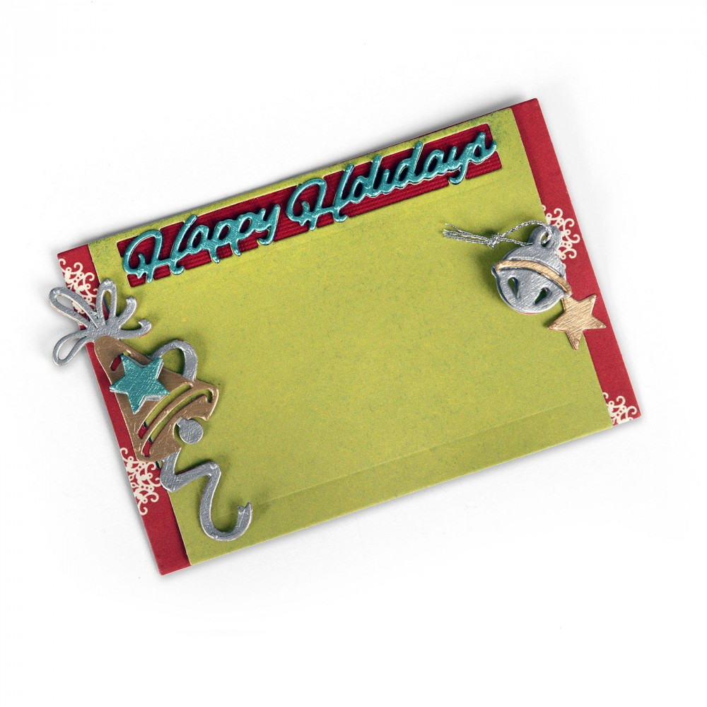 Sizzix Christmas Happy Holidays Gift Card Holder Thinlits Die