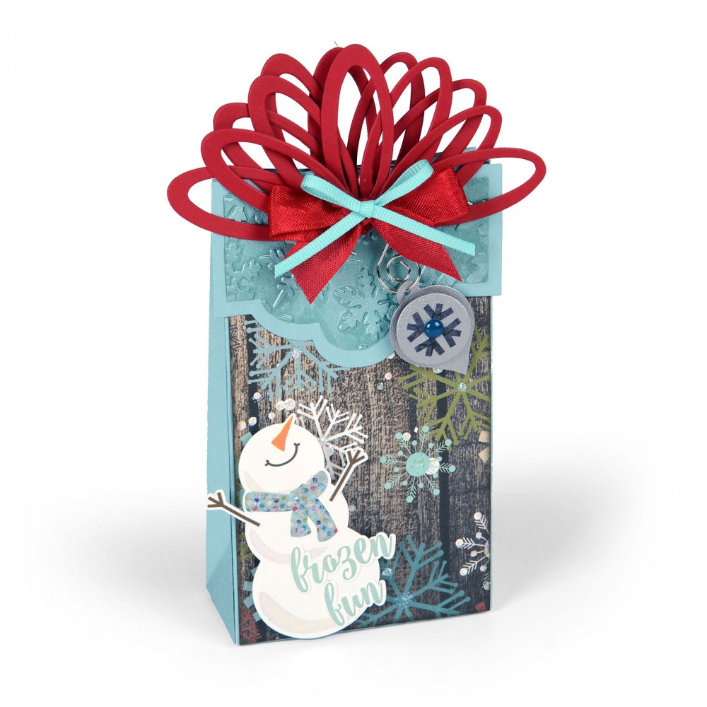 Sizzix Christmas Box Wrapped With Ornaments Bigz XL Die