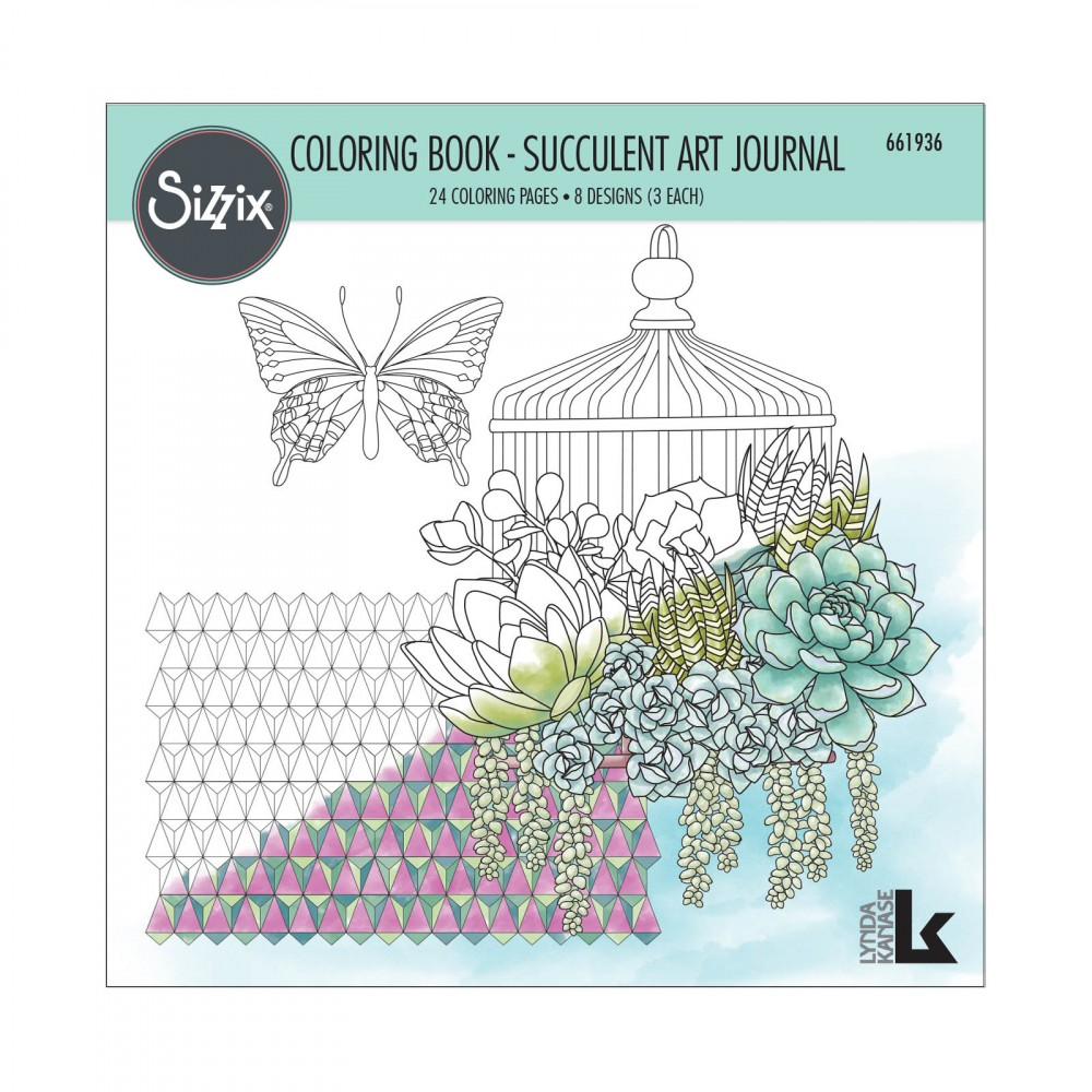 Sizzix Succulent Art Journal Coloring Book