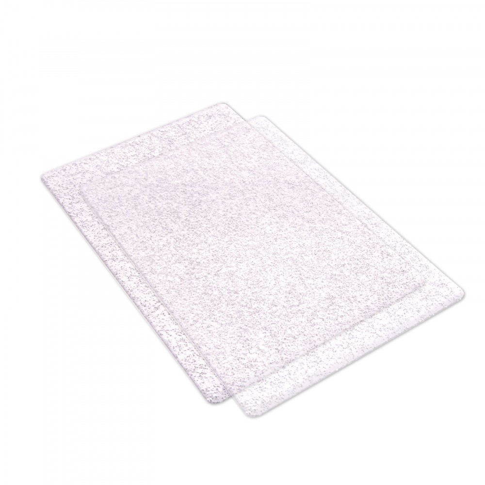 Clear Glitter Cutting Pads