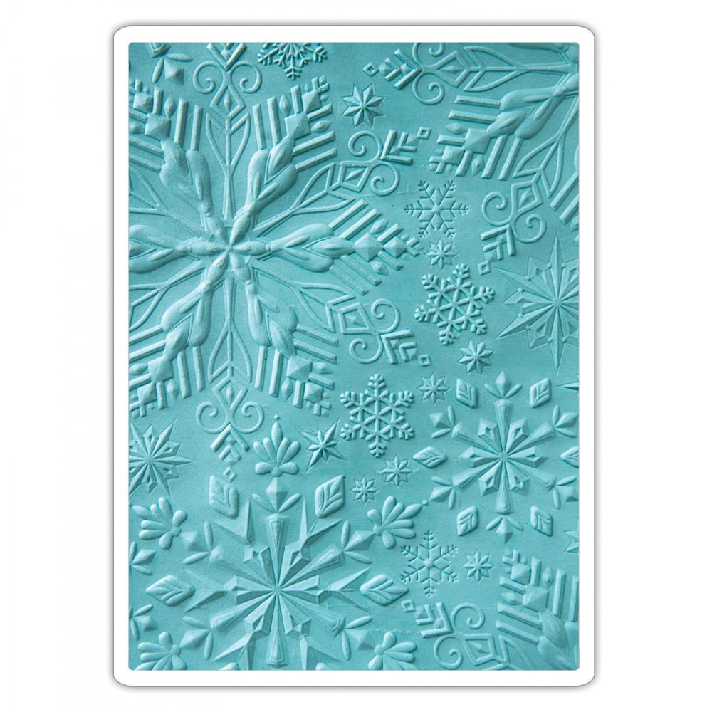 sizzix tis the season winter snowflakes 3d textured impressions