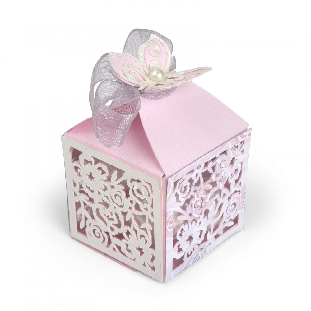 Butterfly Themed Favor Boxes : Sizzix butterfly favor box thinlits die