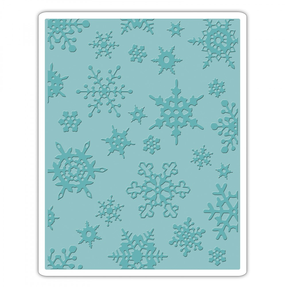 Christmas Texture.Sizzix Tim Holtz Alterations Simple Snowflakes Texture Fades Embossing Folder