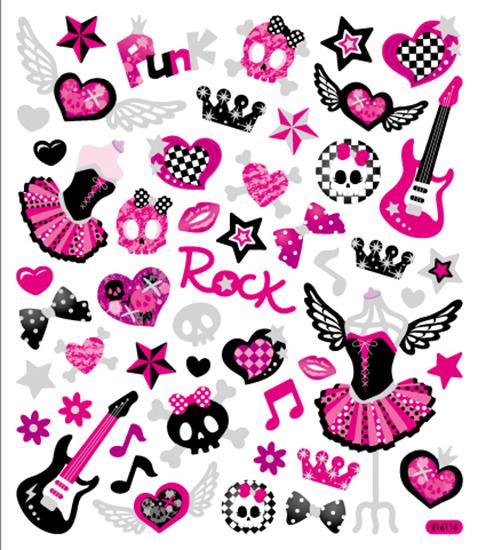 sticker king girls rock stickers