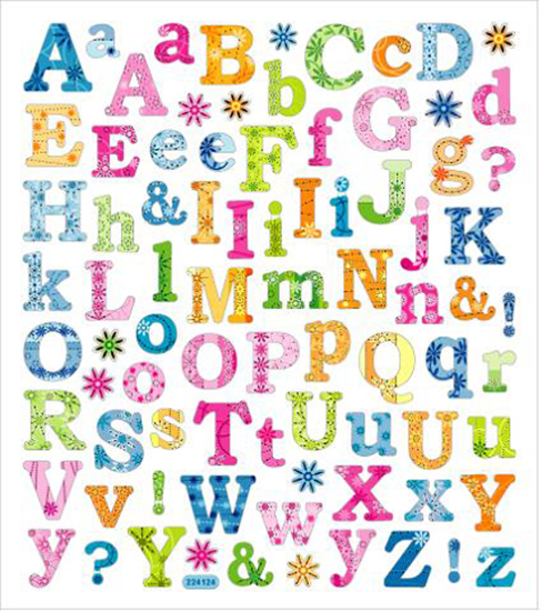 sticker king clear stickers tropical letters