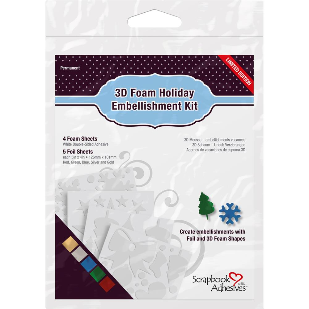 Scrapbook Adhesives by 3L 3D Foam Holiday Emb. Kit