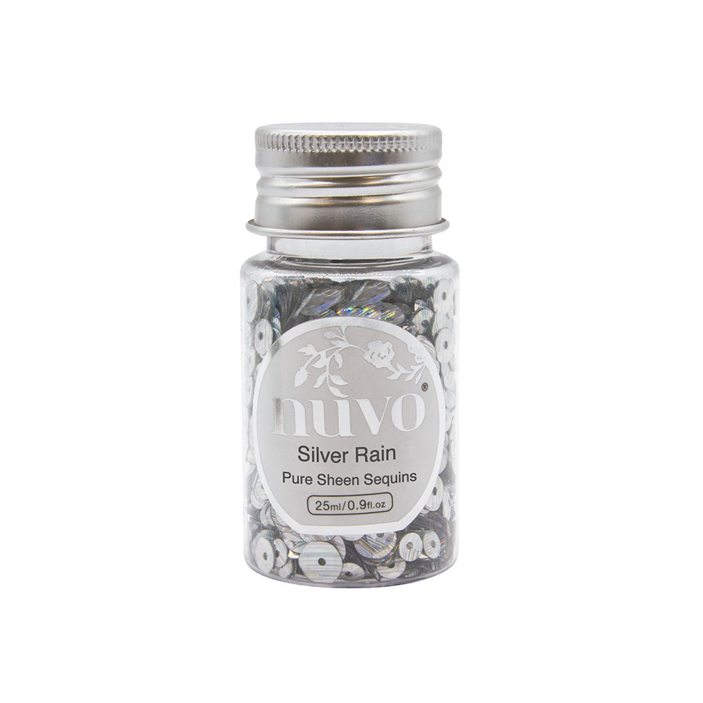 Nuvo Silver Rain Pure Sheen Sequins