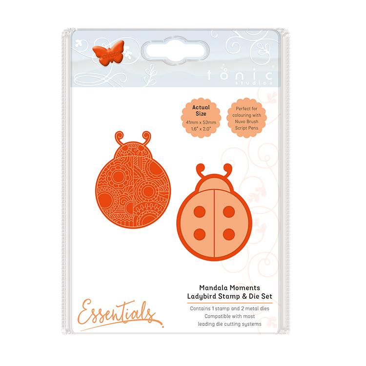 Tonic Studios Mandala Moments Ladybug Die And Stamp Set