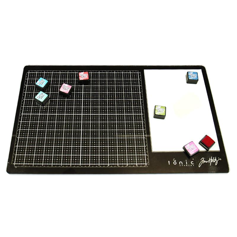 Tonic studios tim holtz glass media mat for Tim holtz craft mat