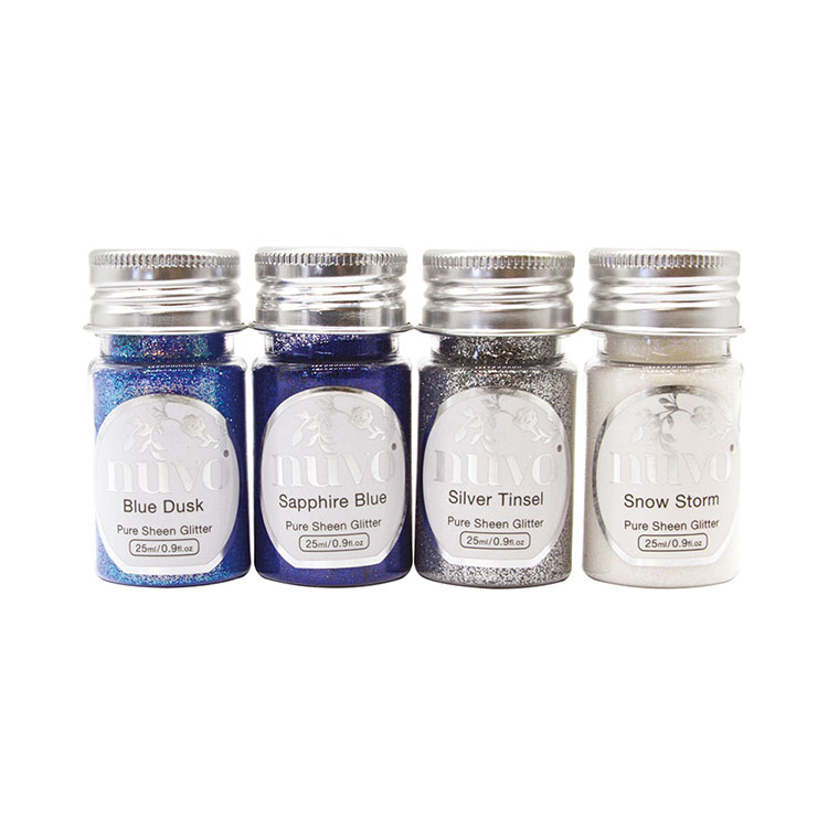 Nuvo Pure Sheen Glitter Let It Snow 4 pk
