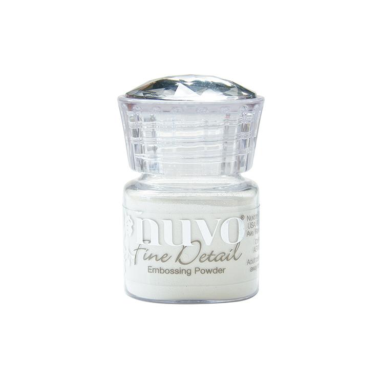 Nuvo Glacier White embossing powder