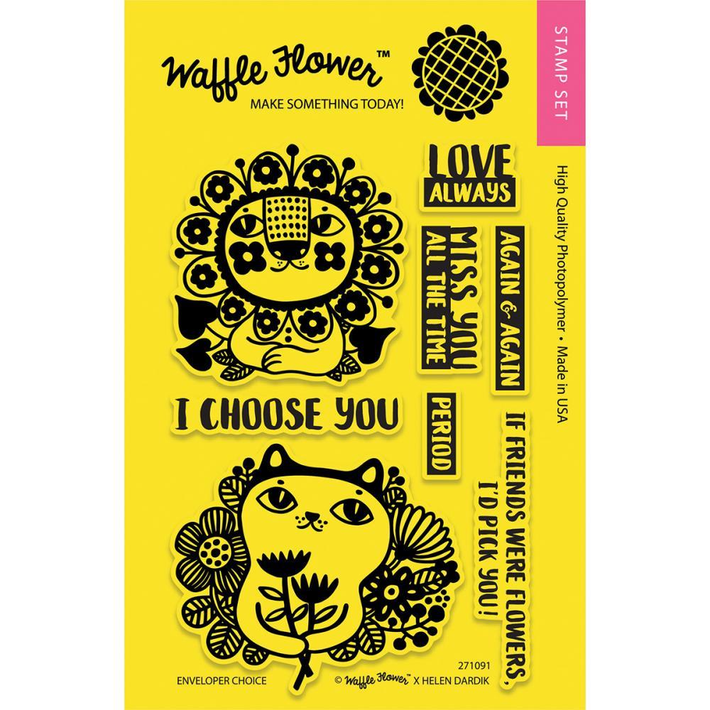 Waffle Flower CraftsEnveloper Birthday Clear Stamps 4 x 6
