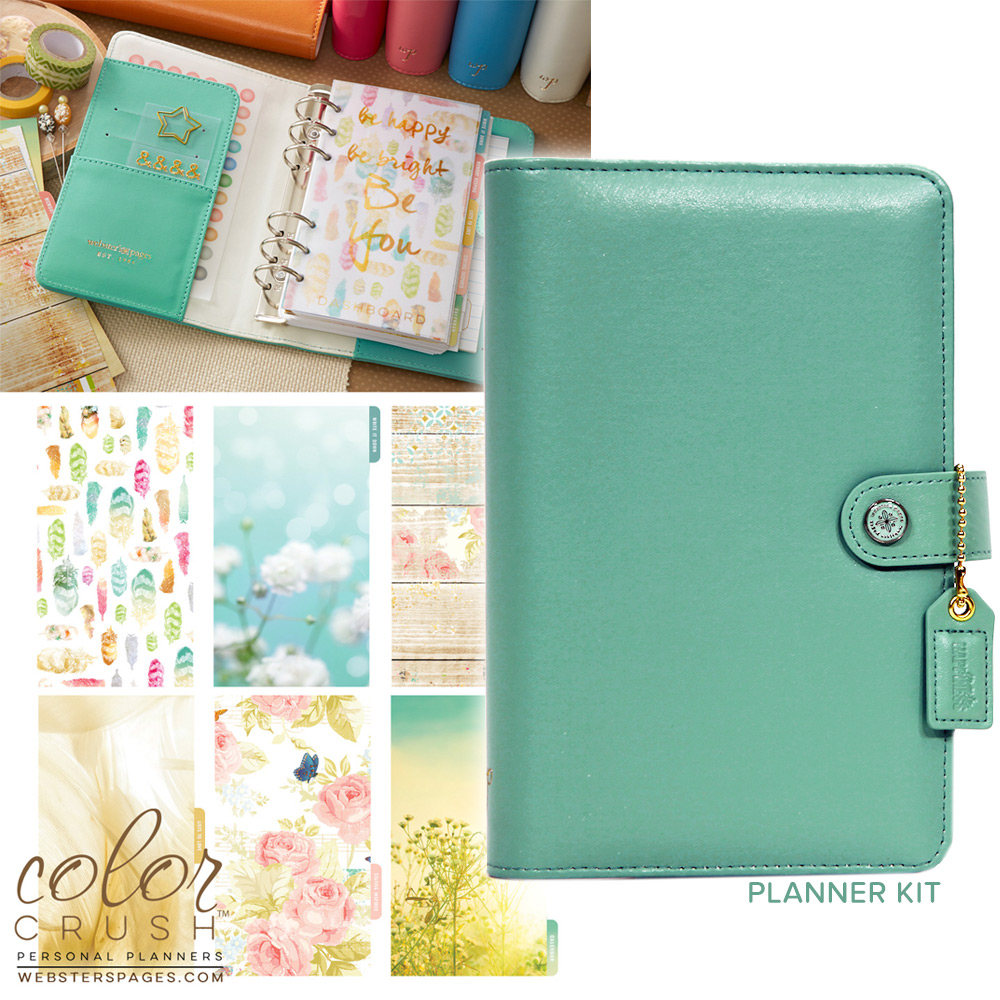 Websters Pages Color Crush Light Teal Personal Planner Kit