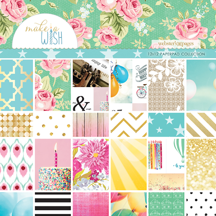 Websters Pages Make a Wish 12 x 12 Paper Pad