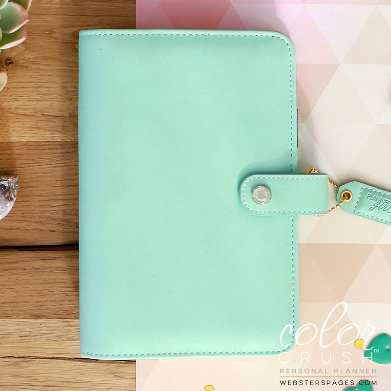 photo about Planner Binders named Websters Web pages Coloration Crush Mint Individual Planner Binder