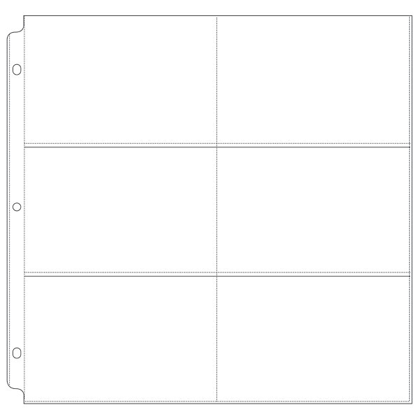 We R Memory Keepers Page Protectors 6 Up - 4 x 6 Inch 10 pack for 12 x 12  Three-Ring Albums