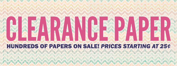 Clearance Paper 25Cents