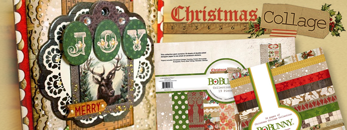 Bo Bunny Christmas Collage