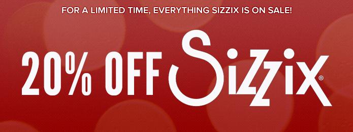 20% OFF Sizzix 2014 12 days