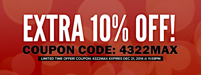Extra 10% OFF - Christmas 2014