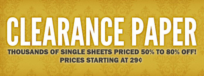 Clearance Paper 29 cents