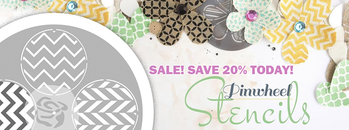 Prima Pinwheel Stencils on sale