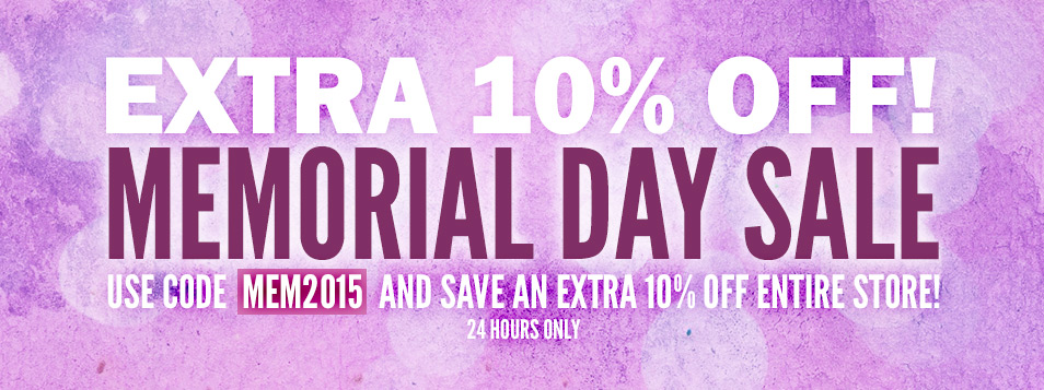 Memorial Day Flash Sale 2015