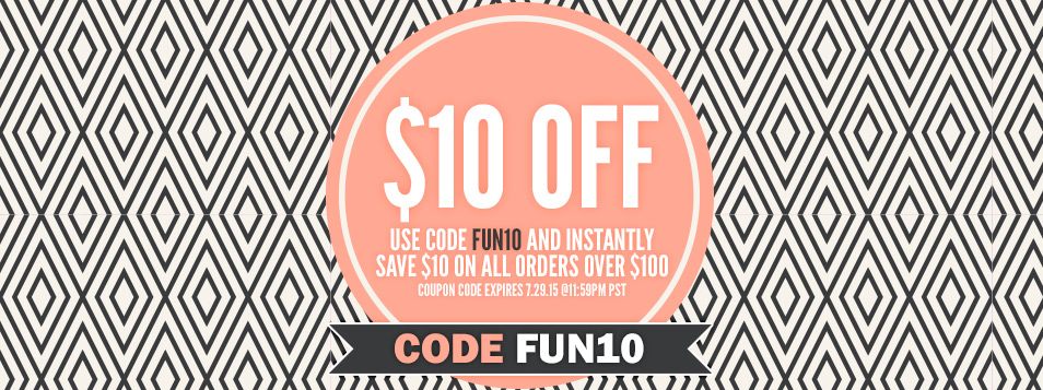 SiteWide Promo save 10 on 100 funky