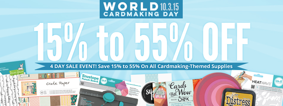 huge cardmaking sale 15-55