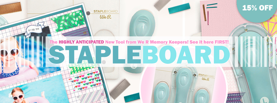 WE R Staple Board - NEW Hot Product