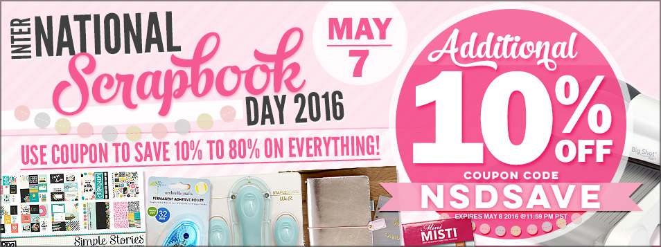 EXTRA 10% OFF NSD 2016