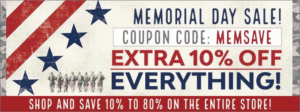 10% off entire store: code MEMSAVE