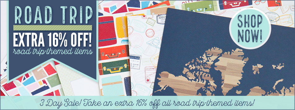 16% off road trip theme