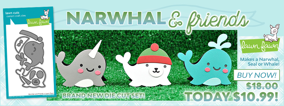Lawn Fawn Narwhal Die September 2016