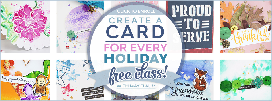 CLASS may flaum - class card for every holiday