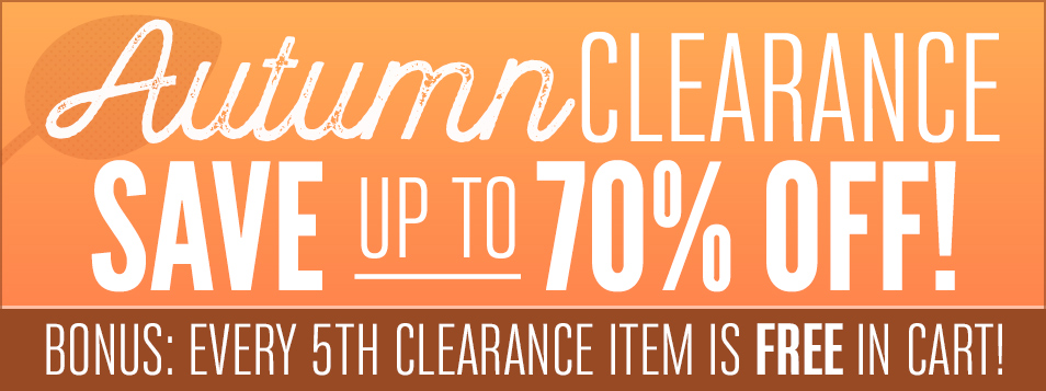 Autumn Clearance Sale OCT 2016