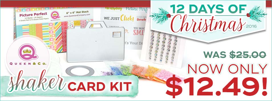 12 Days Shaker Card Kit by Queen and Co