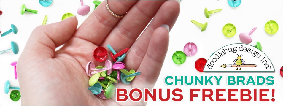 FREE bonus chunky brads