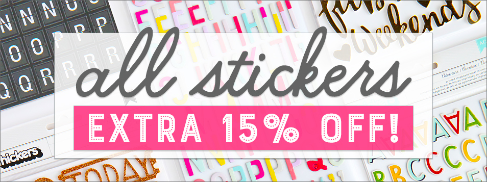 15% off all stickers