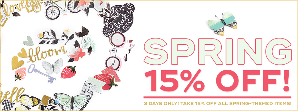 15% off spring theme