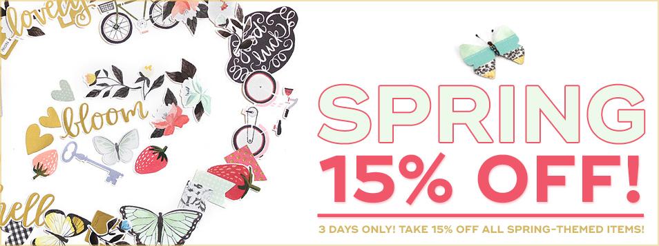 15% off spring theme