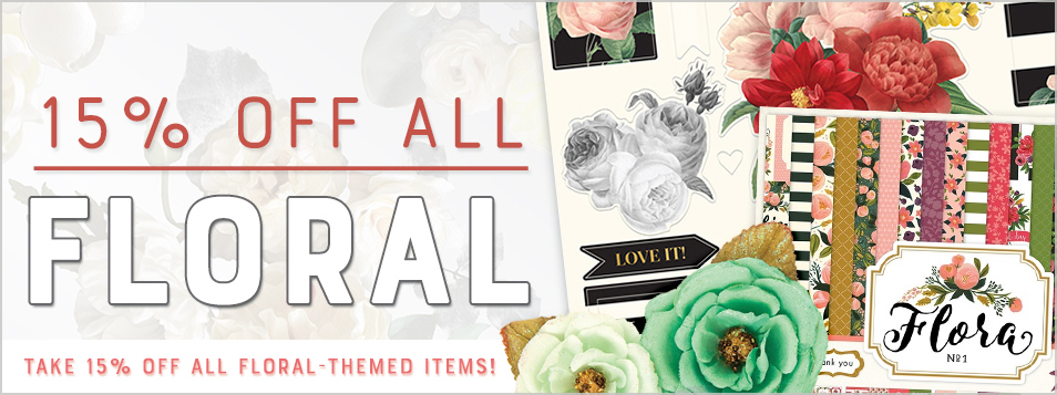 Floral theme 15% off