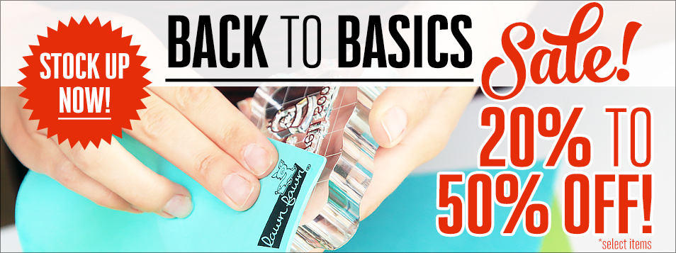 Back to Basics Sale April 2017