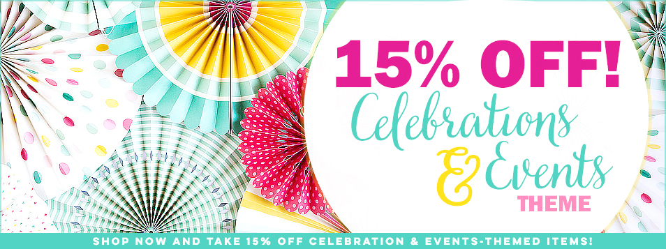 Celebrations and Events Theme Sale May