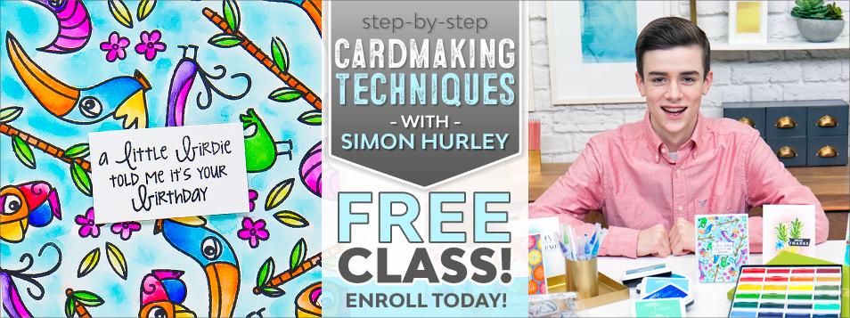 CLASS! simon hurley cardmaking